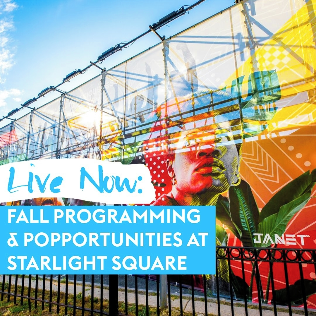 Fall Programming & Popportunities at Starlight Square